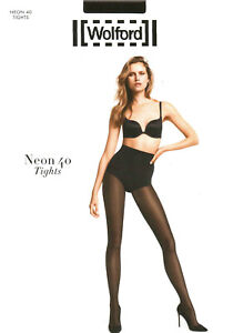 LUXUS PUR: WOLFORD Tights NEON 40 (18391), S, concret, NEU&OVP 2018er Cover