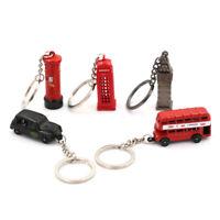 Modelo de Londres en miniatura británico Llavero Recuerdo Autobús rojo T*QA