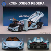 New in Box AUTOART 1:18 Scale Koenigsegg Regera Fully Open Car Model Collection