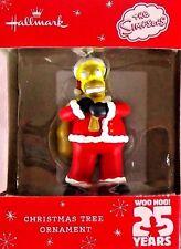 NEW! Fox Network The Simpsons Homer Santa Claus Christmas Tree Ornament Gift ~