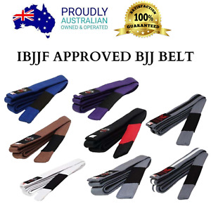 IBJJF Approved BRAZILIAN JIU JITSU BELT - BJJ - 100% Cotton MMA - Training Gym