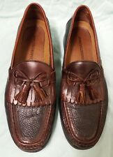 Johnston and Murphy brown leather tassel loafers size 10 1/2