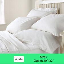 Cotton Organic 2 Set Pillowcases 350 Tc White Soft Queen   OrganicTextiles