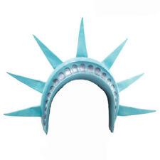Estatua de la Libertad corona casco Americano Usa New York Diadema Elaborado Vestido Sombrero