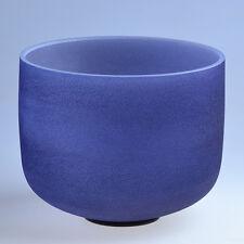 "8"" A Third Eye Navy Blue Chakra Crystal Quartz Singing Bowl Heal Stone X-mas"