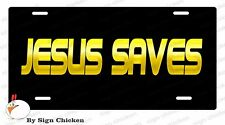 """JESUS SAVES License plate, car tag, novelty plate, 6"""" x 12"""" auto"""