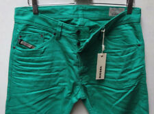 Diesel Men Jeans 36 W x 32 Darron 8QU Green Regular Slim Tappered New with Tags