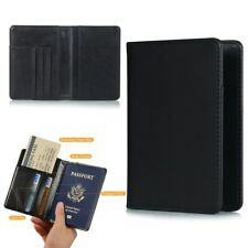 Passport Holder Travel Wallet RFID Blocking Case Cover - Holds Passport / Card