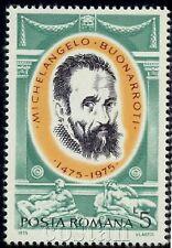 1975 Michelangelo Buonarroti,Dusk,Dawn,Lorenzo de Medici Tomb,Romania,M.3256,MNH