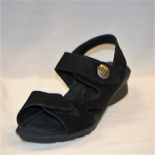 Spring Step Diverten Women's Black Suede Sandal with adjustable Straps size 39