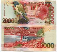 St Thomas & Prince 20000 Dobras P67a Unc  20 000 Sao Tome E Principe 1996 Note