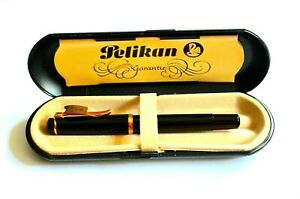 PELIKAN M150 OLD STYLE FOUNTAIN PEN, F-FINE GOLD PLATED NIB , MADE IN W.GERMANY
