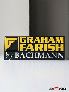 Decorative self-standing GRAHAM FARISH logo display