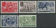 Russia / USSR, 1938, Sc# 784-788, Physical Culture Day, full set, MNH/MLH