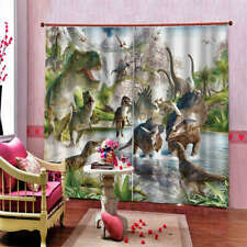 Tyrannosaurus Rex Assemble Dinosaur Printing 3D Blockout Curtains Fabric Window