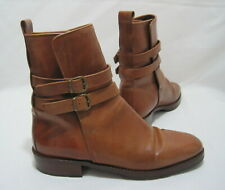 JOAN & DAVID Handmade in Italy Women's 9M Western Buckle Mid-Calf Leather Boots