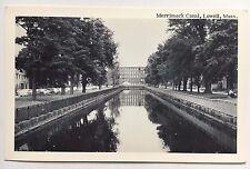 Vintage ca. 1950s Postcard Merrimack Canal Lowell, Mass. Merrimack Picture Pc Co