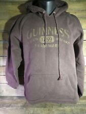 GUINNESS Irish Dry Stout Beer Hoodie Brown Pull Over Jacket Size M