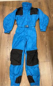 Columbia Women's Vintage 80s-90s One Piece Snow Suit Ski Blue Sz Small Excellent