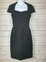 "Banana Republic ""Sloan"" Cap Sleeved Black Dress Size 4"
