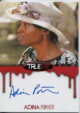 True Blood Premiere Blood Bordered Autograph Card Adina Porter