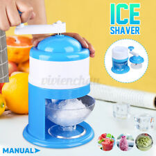 Ice Crusher Portable Manual Block Shaving Maker Machine Snow Cone Shaved Slushie