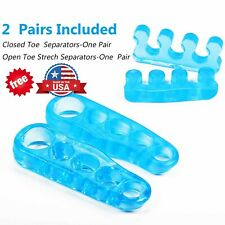 Toe Separator Stretchers Yoga Foot Gel Bunion Corrector straightener 2 pairs