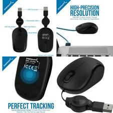 Mini Travel USB Optical Mouse with Retractable Wireless Cable (MS-OPMN)