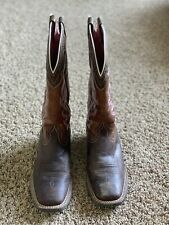 Ariat Womens Square Toe Western Boot Brown Size 8B