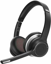 More details for wireless headset v5.0 with dual microphone, wireless pc headphones, cvc8.0 noise