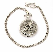 Motorbike 1 Pocket Watch Gift Boxed With Free Engraving Motorsports Gift Collectibles Pewter