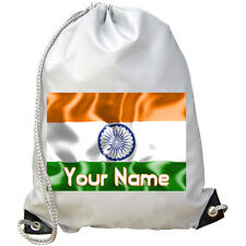 INDIAN INDIA'S FLAG PERSONALISED GYM / PE / DANCE / SWIMMING BAG  **NAMED GIFT**