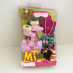 Moxie Teenz Doll Pink Boots Purse Sleep Mask Jewelry Teddy Bear Accessories New