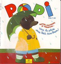 POPI  N° 127 * La pluie cantine garderie  Jeux Imagier * jeune enfant 18 mois