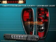 2004-2010 CHEVY COLORADO / GMC CANYON TAIL LIGHTS BLACK + 04-08 LED BRAKE LIGHT