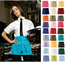 More details for short waist apron 3 pocket half size restaurant bar waiter waitress cafe