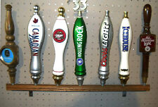 (X4 LOT OF 4) 7 BEER TAP HANDLE DISPLAY - WALL MOUNT W/BRACKETS - ALMOST 2' LONG