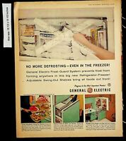 1960 General Electric Swing out Shelves Refrigerators Vintage Print Ad 13513