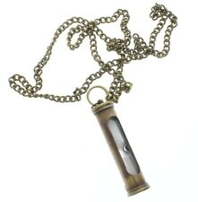 "Solid Brass Jewelers Hourglass Pendant and Chain 24"" Necklace"
