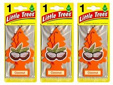 Coconut Scented Little Trees Hanging Car Air Fresheners 24pk New! Sealed