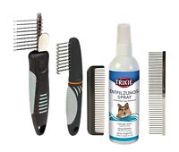 Dog Grooming Rake comb brush detangling spray De-matting comb for dogs by Trixie