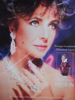 PUBLICITÉ 1995 ELIZABETH TAYLOR'S PASSION EAU DE PARFUM - ADVERTISING