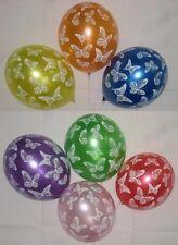 Metallic-Luftballon mit Schmetterlingdruck - 8 Stück - Gartenparty