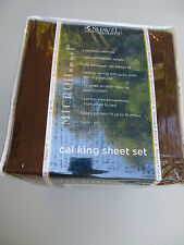 Shavel Home Solid Chocolate California King Micro Flannel Sheet Set