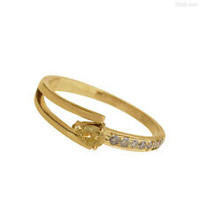 Pave Real Diamond Solid 18k Yellow Gold Ring Designer Vintage Look Jewelry NEW!!