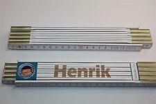 Zollstock mit Namen     HENRIK   Lasergravur 2 Meter Handwerkerqualität