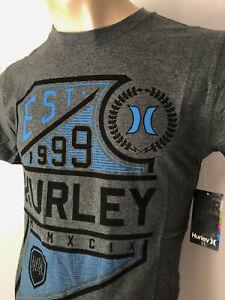 HURLEY 2021 New Premium Mens Top T-shirt Tee Size S M L XL XXL black marble