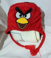 Angry Birds Red Bird Plush Laplander Winter Hat Rovio New NWT