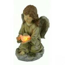 Moonrays Outdoor Polyresin Solar Powered LED Angel with Dove Statue-91338