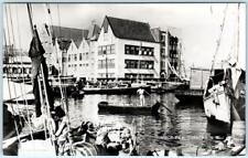 RPPC  CURACAO, N.W.I.  Netherland West Indies  HARBOR VIEW  1954   Postcard